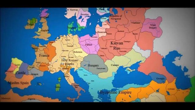3 Dakikada 1000 yıllık Avrupa Tarihi